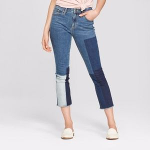 NWT Womens High-Rise Kick Boot Crop Jeans